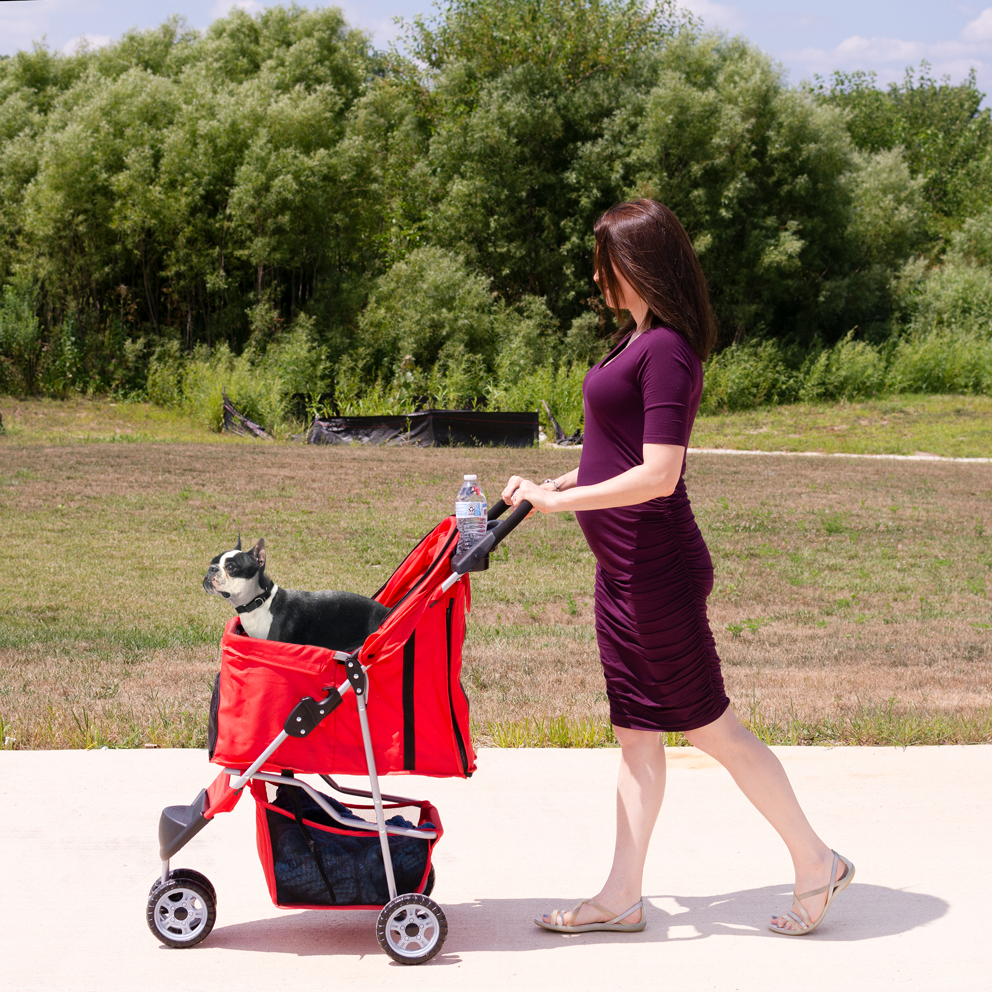 thumbnail 32 - VIVO Three Wheel Pet Stroller / Cat & Dog Foldable Carrier Strolling Cart