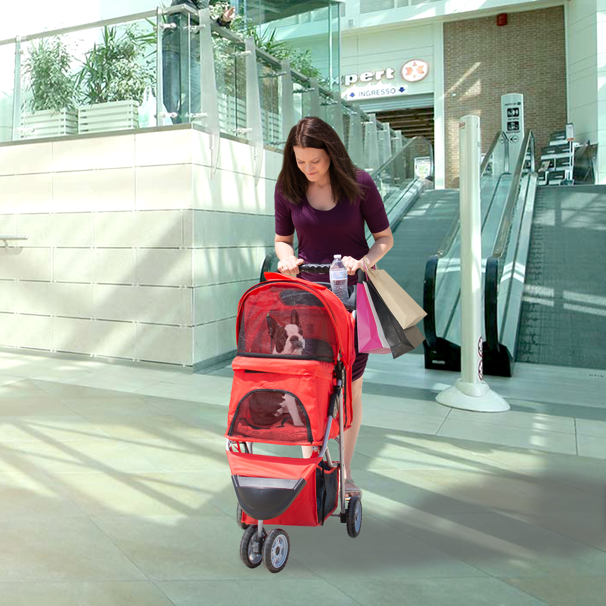 thumbnail 28 - VIVO Three Wheel Pet Stroller / Cat & Dog Foldable Carrier Strolling Cart