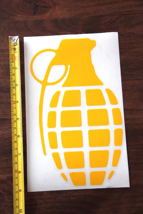 GRENADE Gloves STICKER Decal DIE CUT New PURPLE