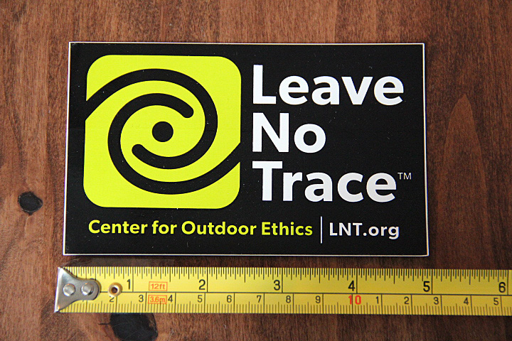 Details about LEAVE NO TRACE Outdoor STICKER Decal NEW Large