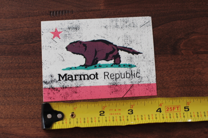 Marmot Sleeping Bag Dot STICKER Decal