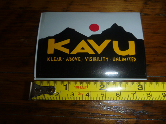 KAVU Clothing Pants STICKER Decal NEW Small Rectangle