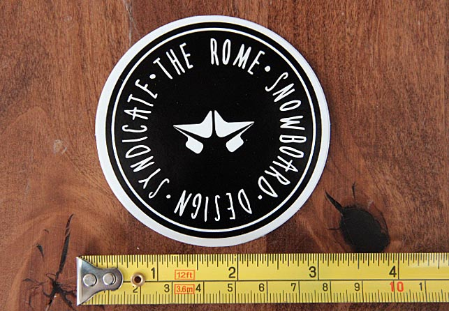 ROME SDS Snowboard STICKER Decal NEW Mountain BLACK