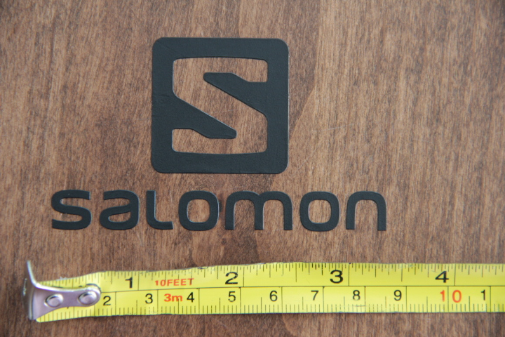 Salomon skis snowboard sticker decal die cut black new