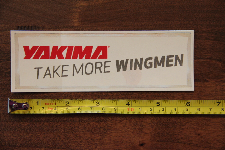 YAKIMA Ski Bike Rack STICKER Decal NEW Take More Wingmen