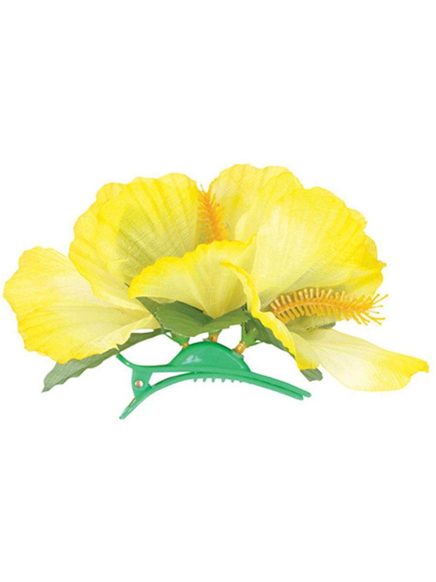 New yellow adult luau hawaiian flower hibiscus costume accessory blockbustercostume main auction posting image izmirmasajfo