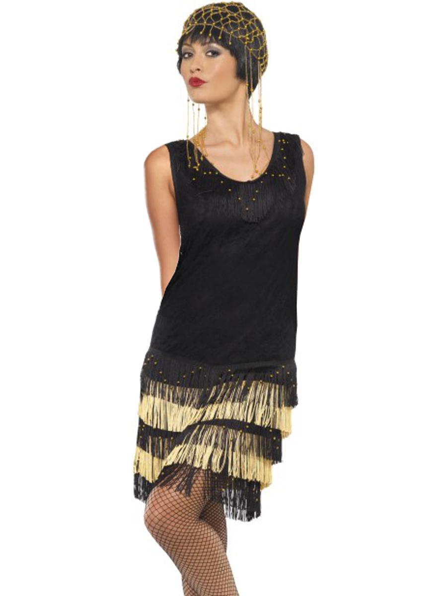 a11ff0d2389 Womens 1920s Dazzling Vintage Fringe Flapper Girl Dress Costume