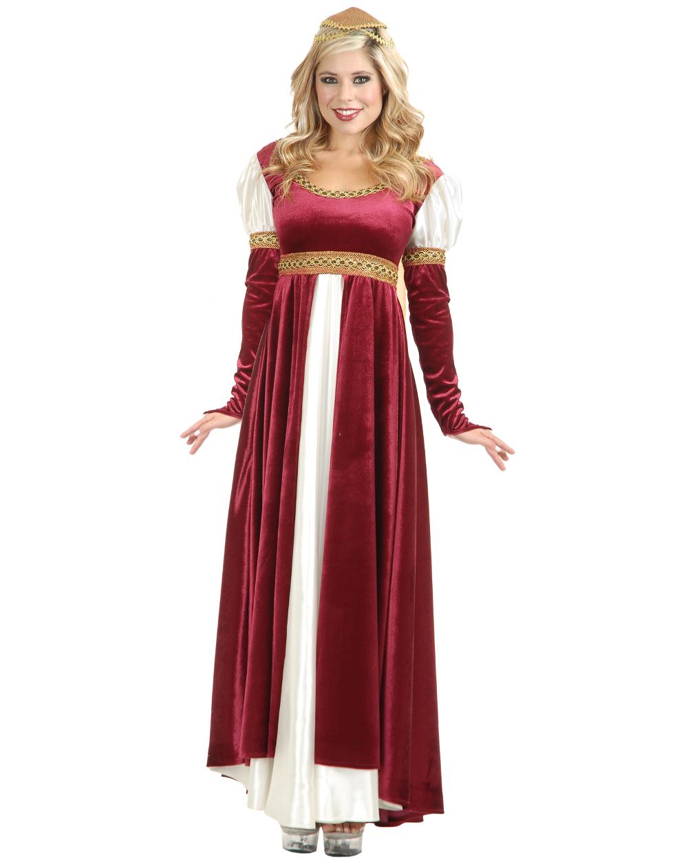 Medieval Dress Plus Size: Women's Lady Of Camelot Renaissance Wine Dress Plus Size