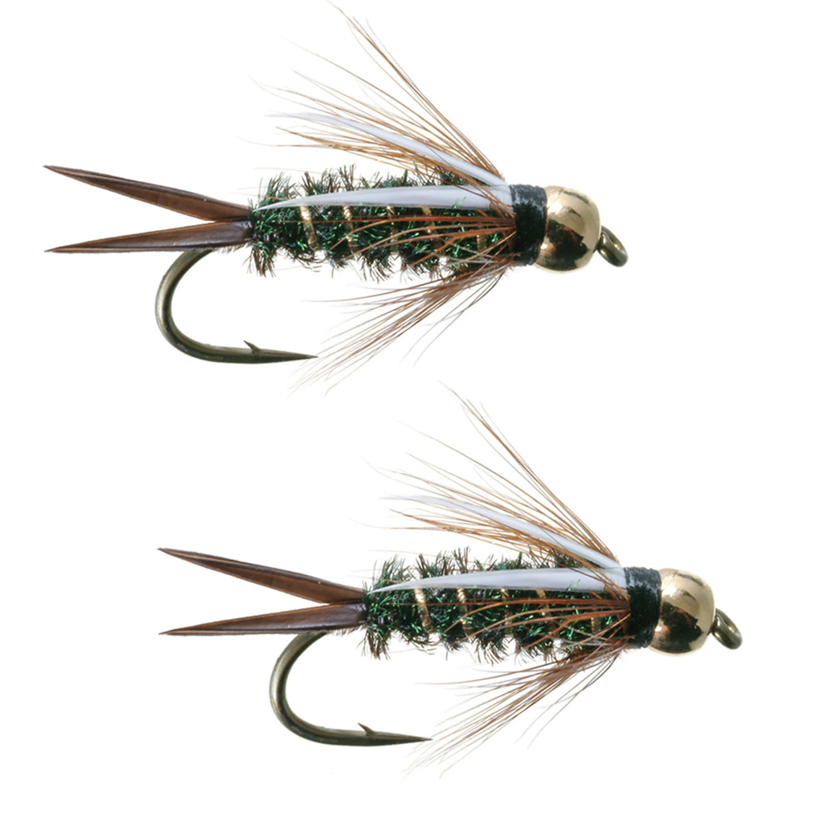 2 Gold Head Prince  size  #14  Nymph