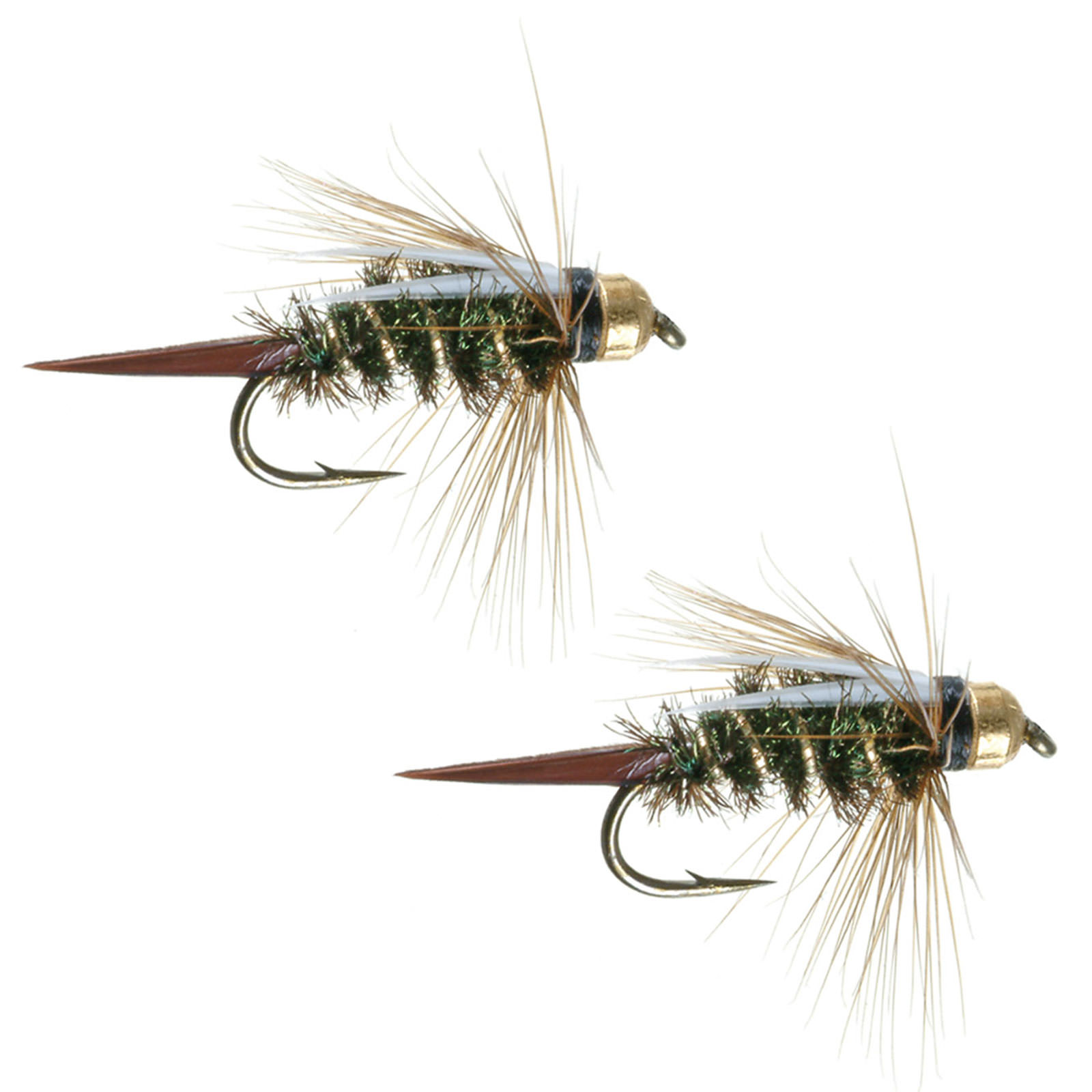 Umpqua Jigged Prince Tungsten Gold Bead Flies