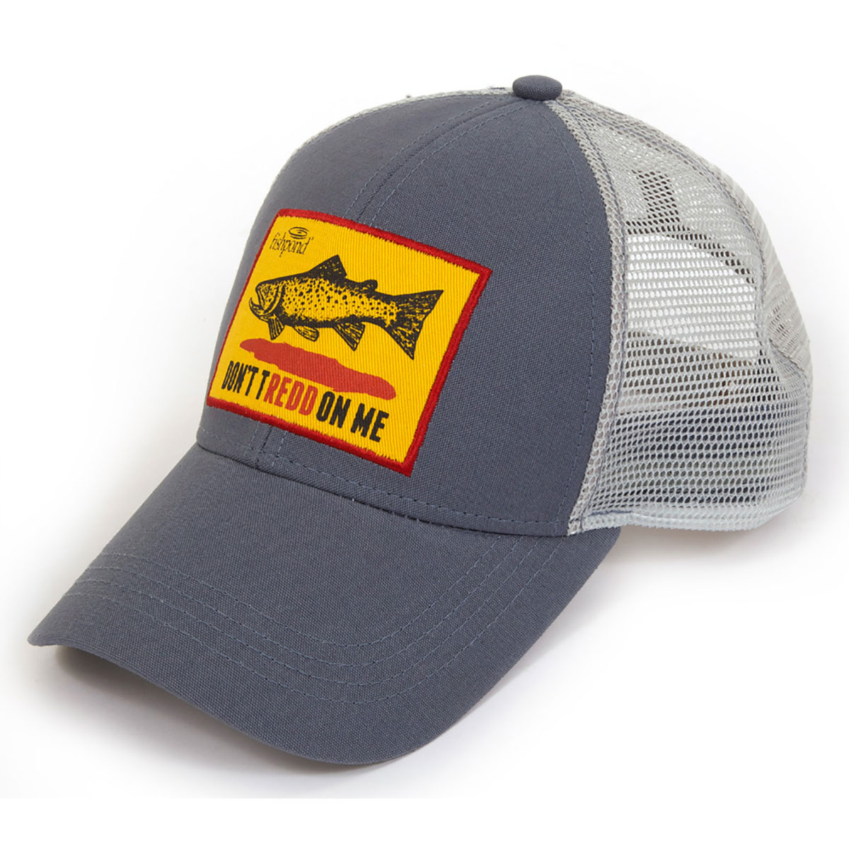 Fishpond don 39 t tredd logo adjustable hook and loop fly for Fishing logo hats