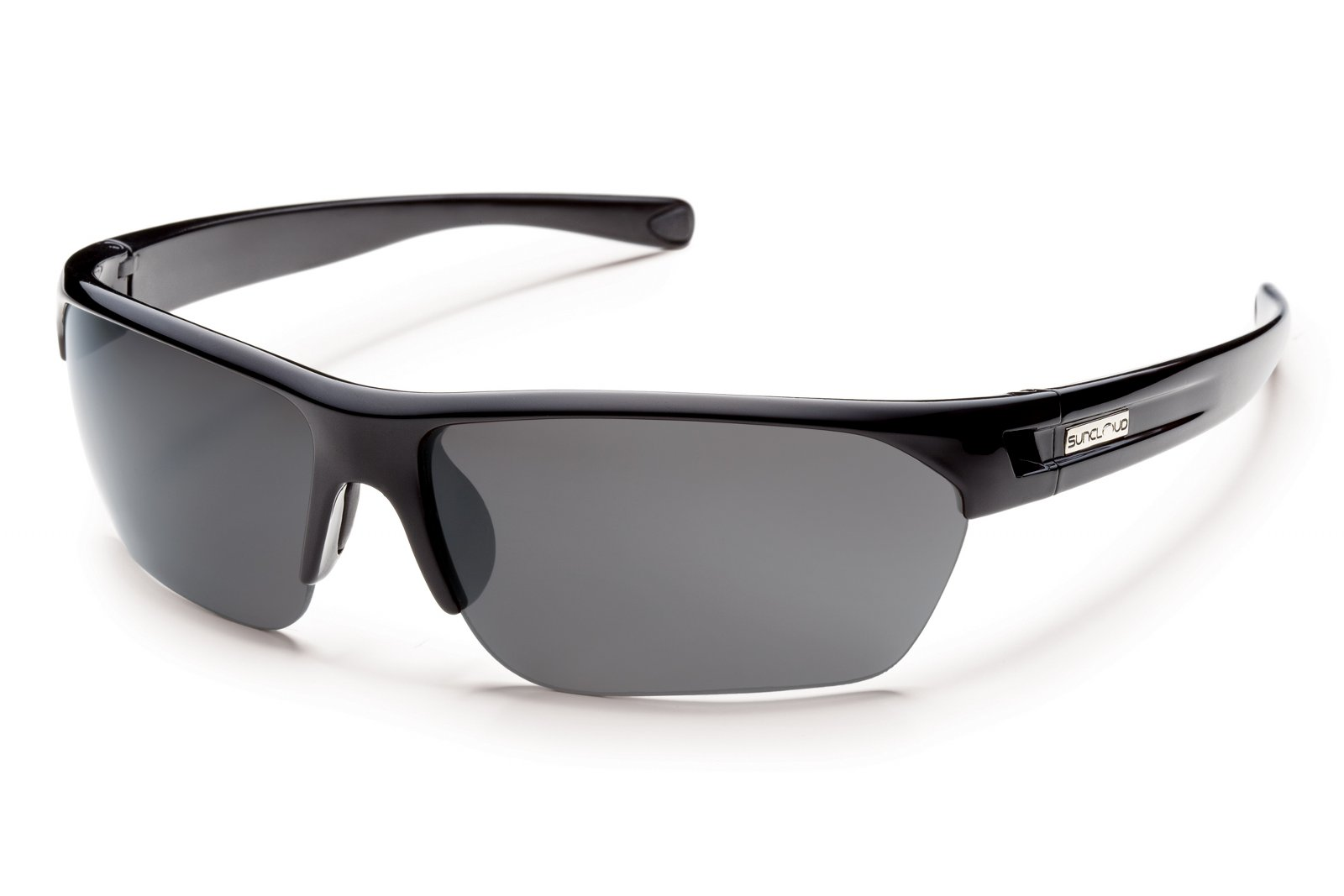 49810c7508b Suncloud Detour Sunglasses Black - Gray Polarized UV Lightweight ...
