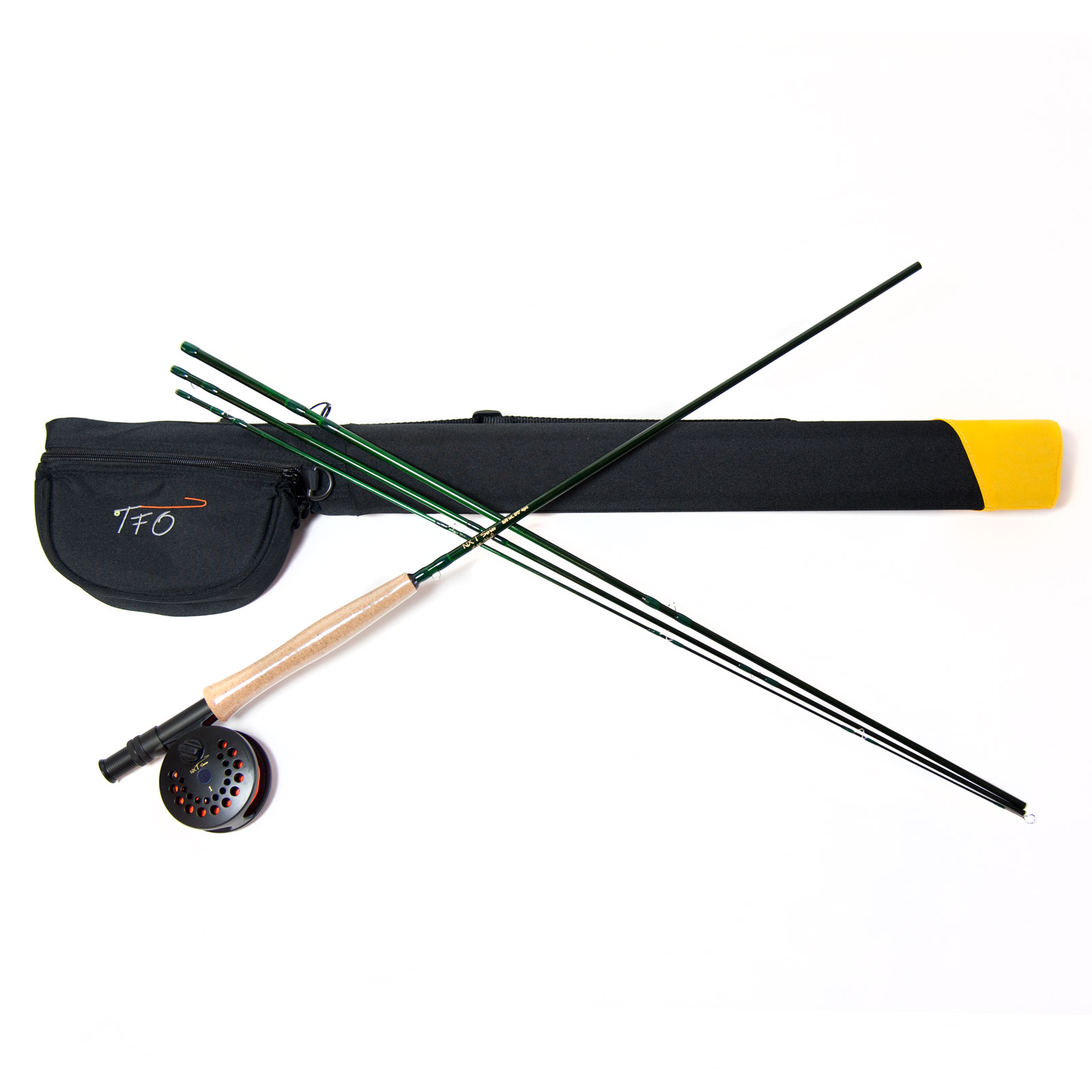 Tfo nxt fly fishing rod and reel outfit with case limited for Fishing rod and reel case