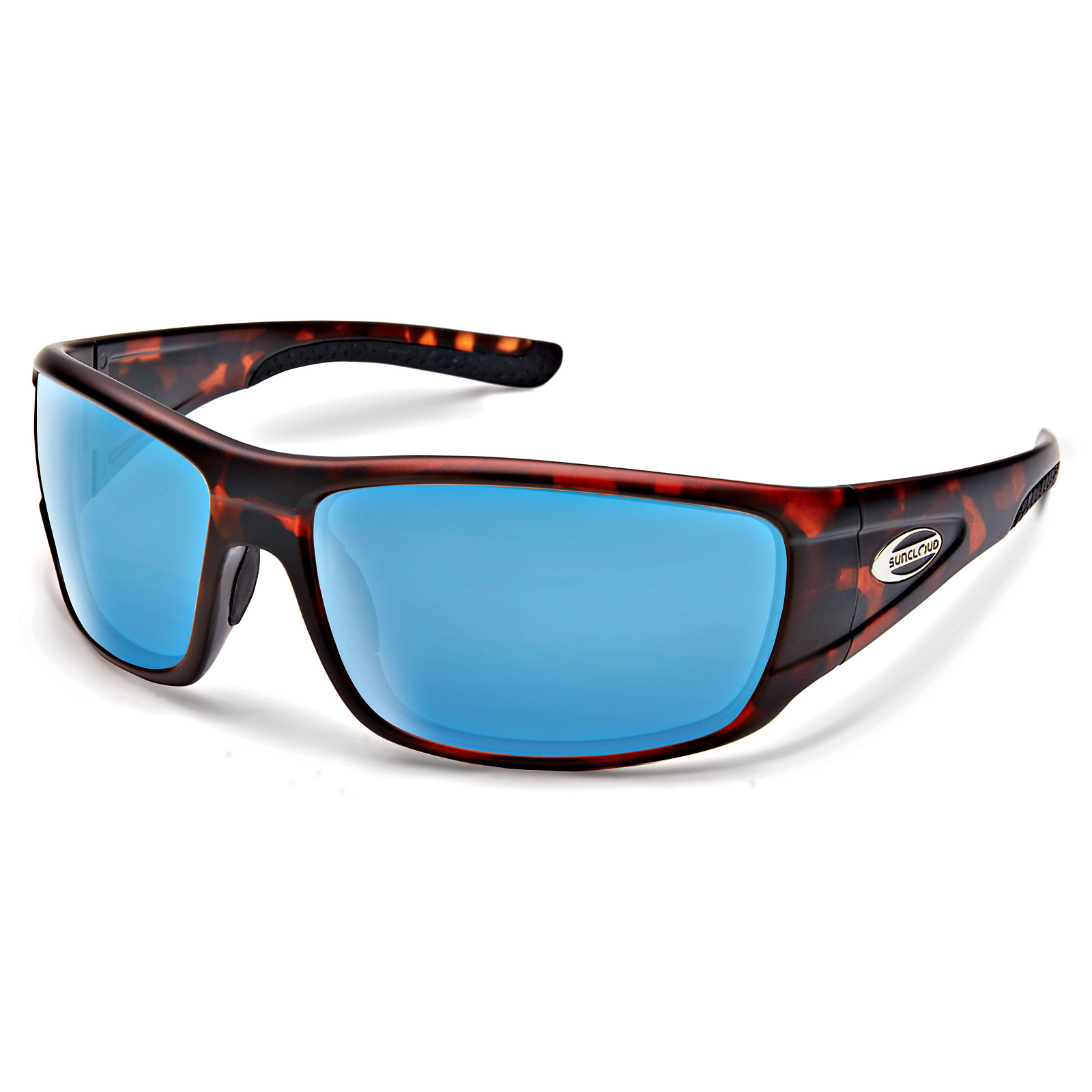 0208cc2619 Suncloud Sunglasses Tribute Matte Tortoise Blue Mirror Polarized Large Fit.  About this product. Picture 1 of 2  Picture 2 of 2