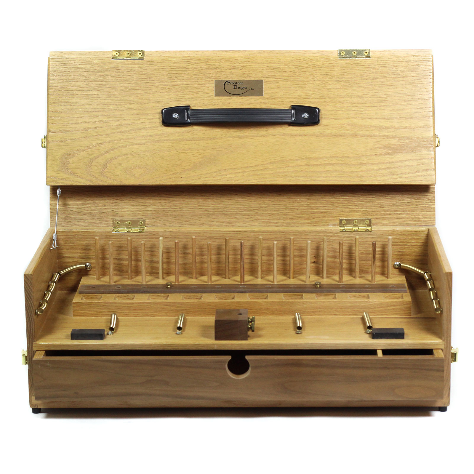 freestone designs the go box portable fly tying bench
