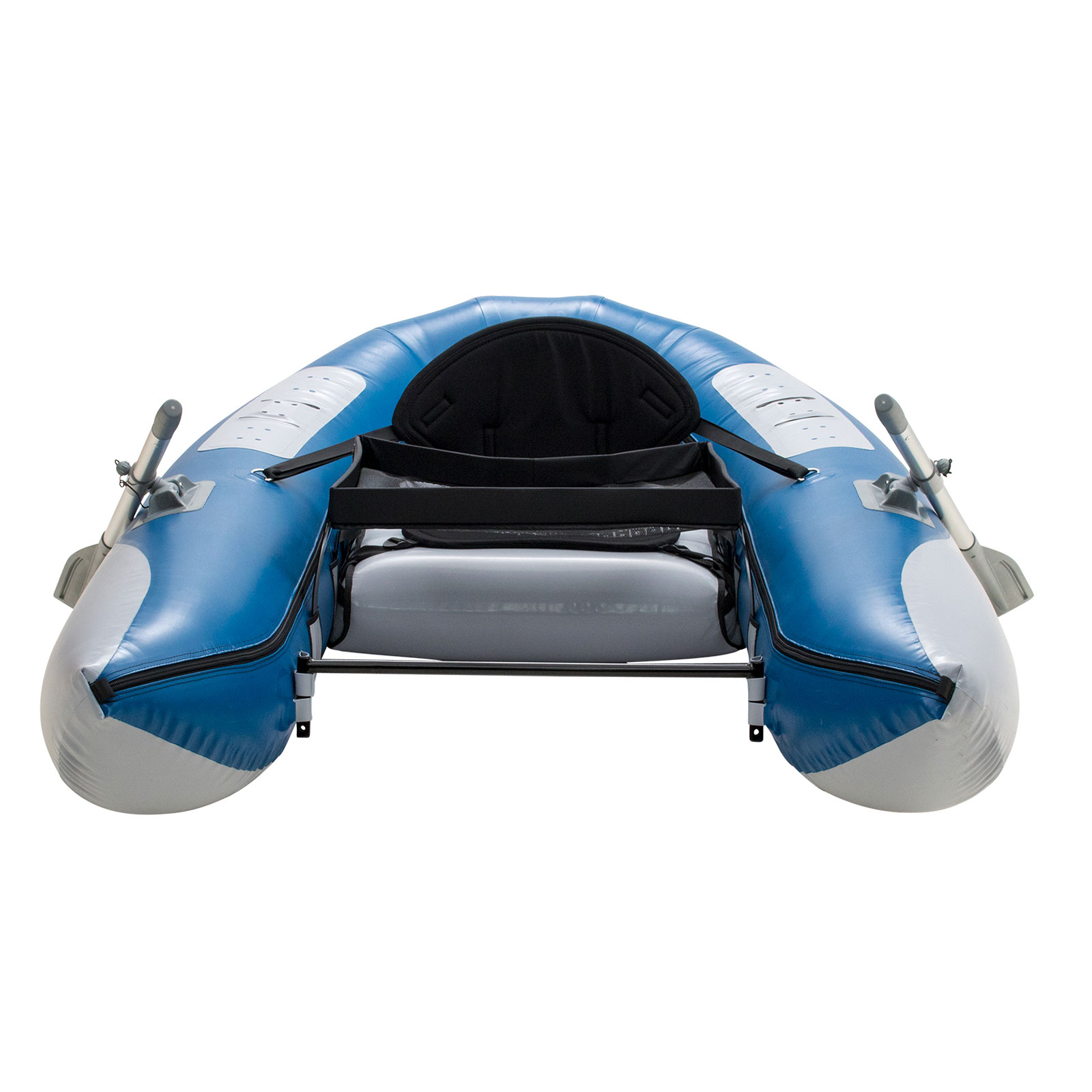 Outcast fish cat scout blue inflatable fly fishing float for Fly fishing float tube