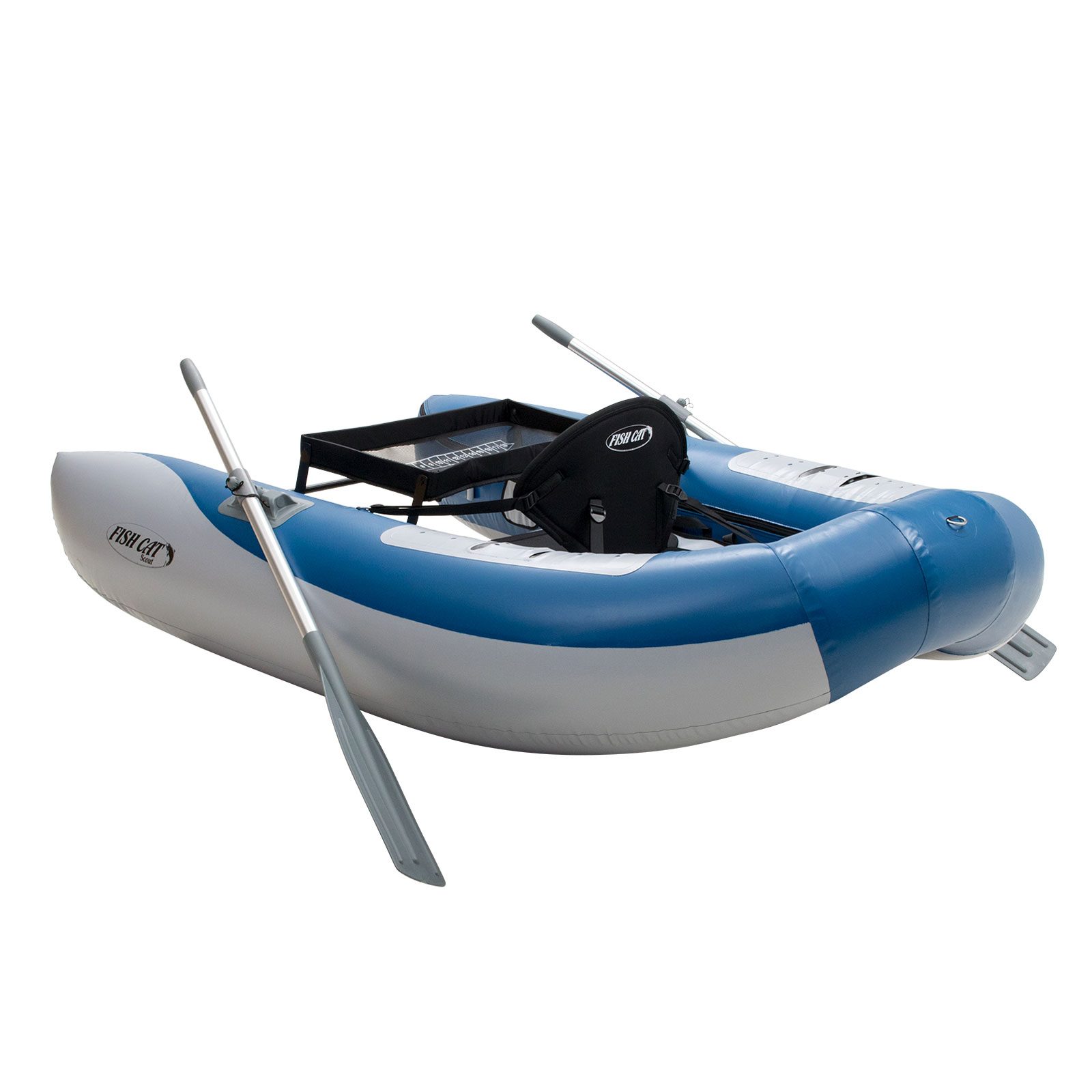 Outcast fish cat scout blue inflatable fly fishing float for Float tubes for fishing