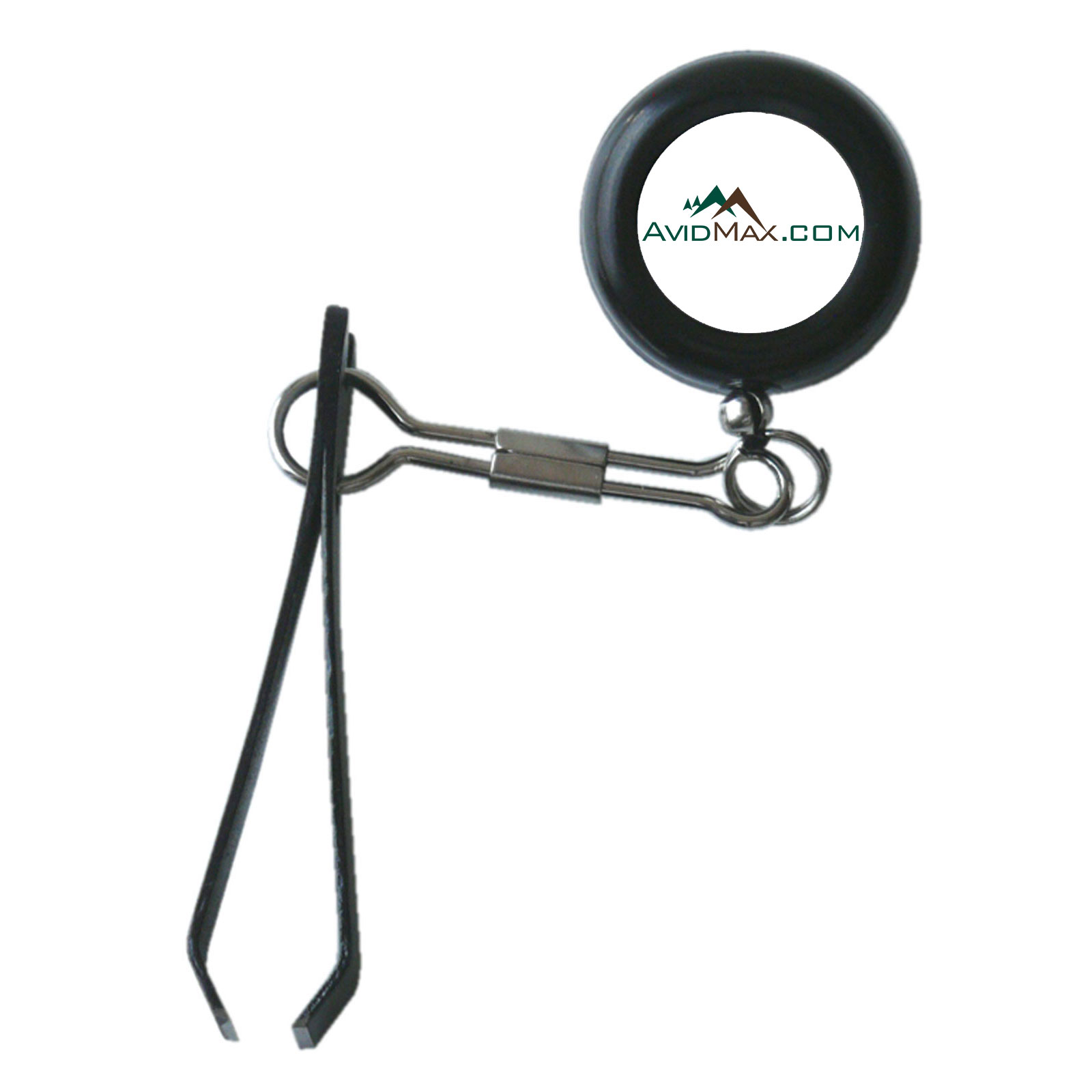 Avidmax outfitters clip on retractor zinger with nippers for Fly fishing nippers
