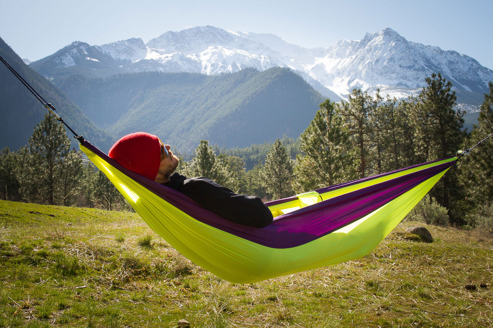 grand trunk single parachute nylon hammock outdoor camping  grand trunk single parachute nylon hammock outdoor camping travel      rh   ebay