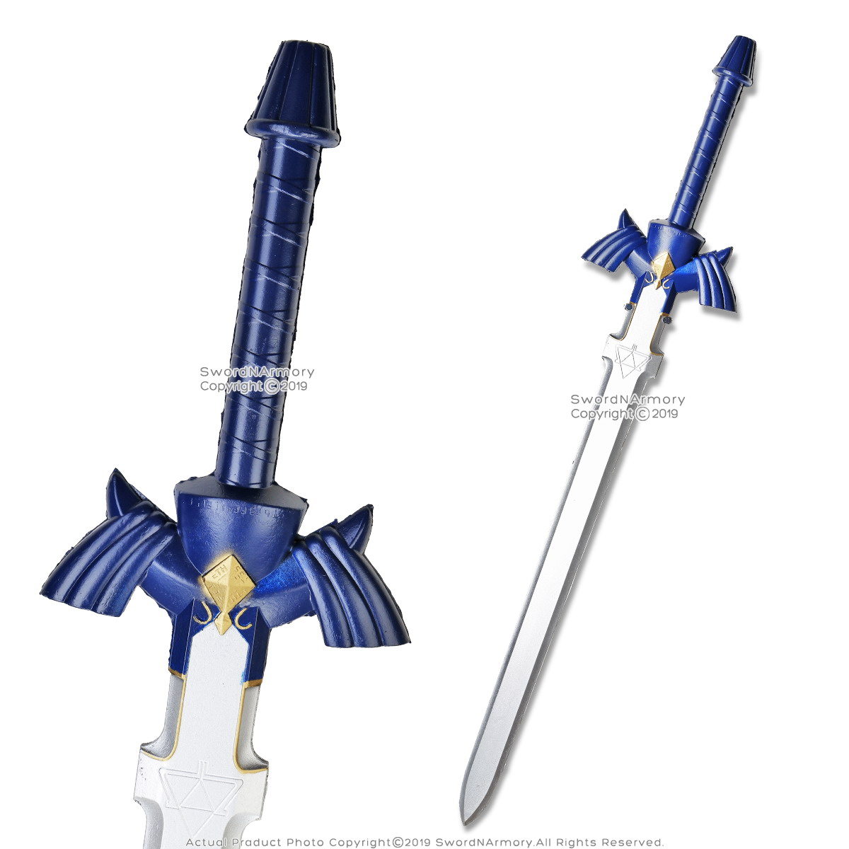 Confident Blue Foam Padded Zelda Link Twilight Princess Arming Sword Larp Cosplay Collectibles Tv, Film & Game Replica Blades