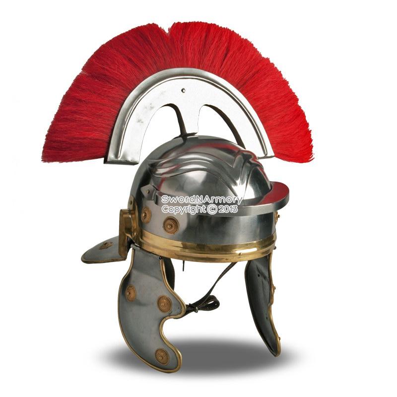 Wearable Roman Imperial Gallic Centurion Helmet W Red