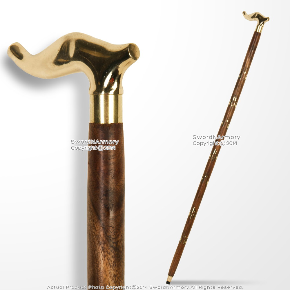 36 Quot Handmade Art Deco Sheesham Wooden Walking Cane Stick