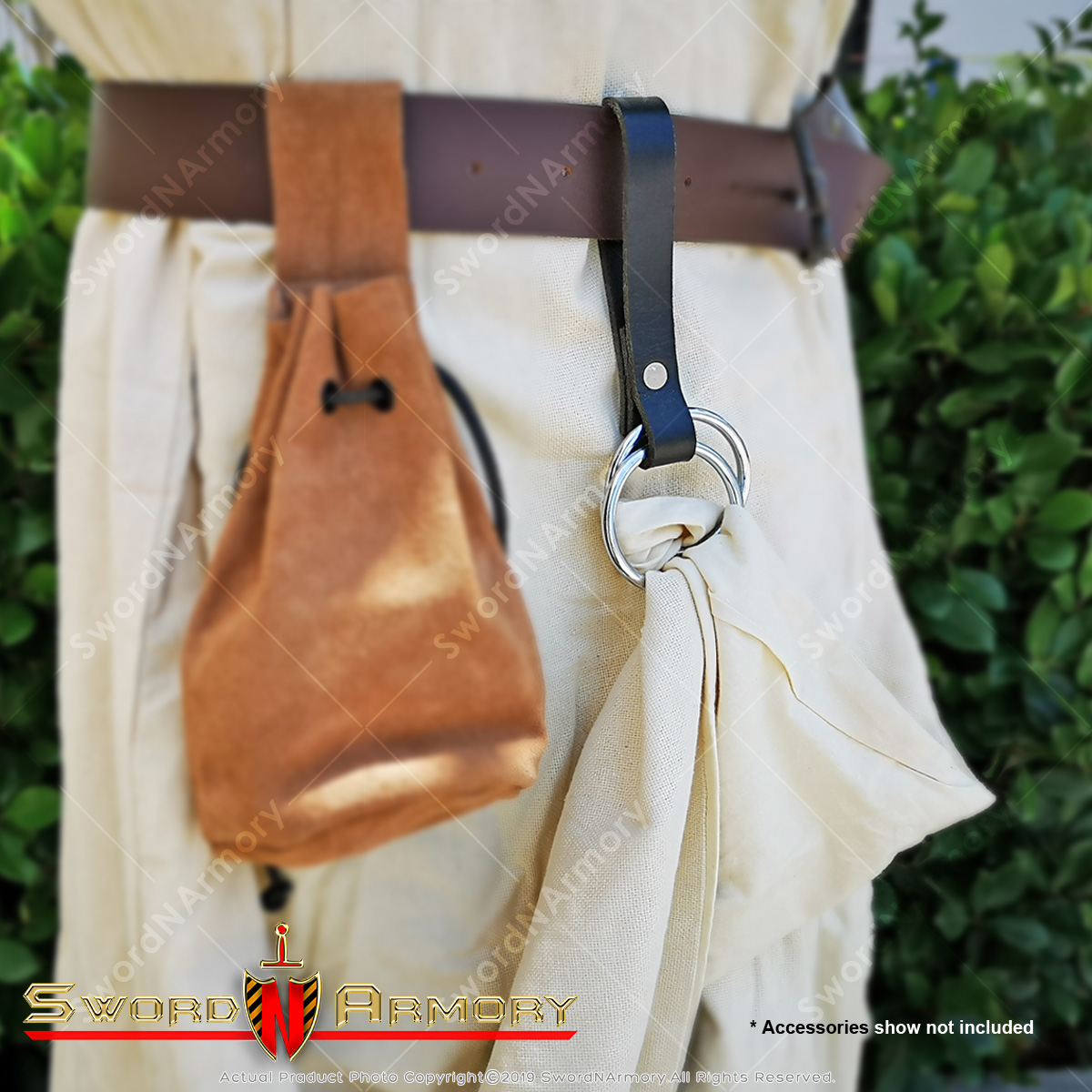 Theatre Costume Accessory Re-Enactment LARP Leather Pirates Skirt Hoop