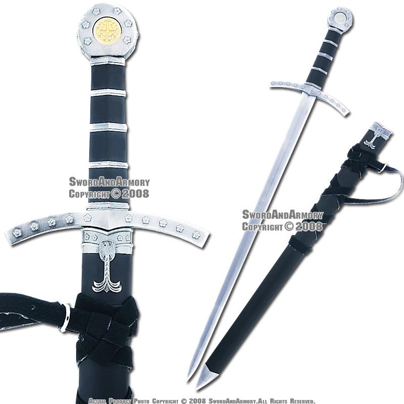 Medieval Crusader Templar Knight Sword Dagger With Sheath