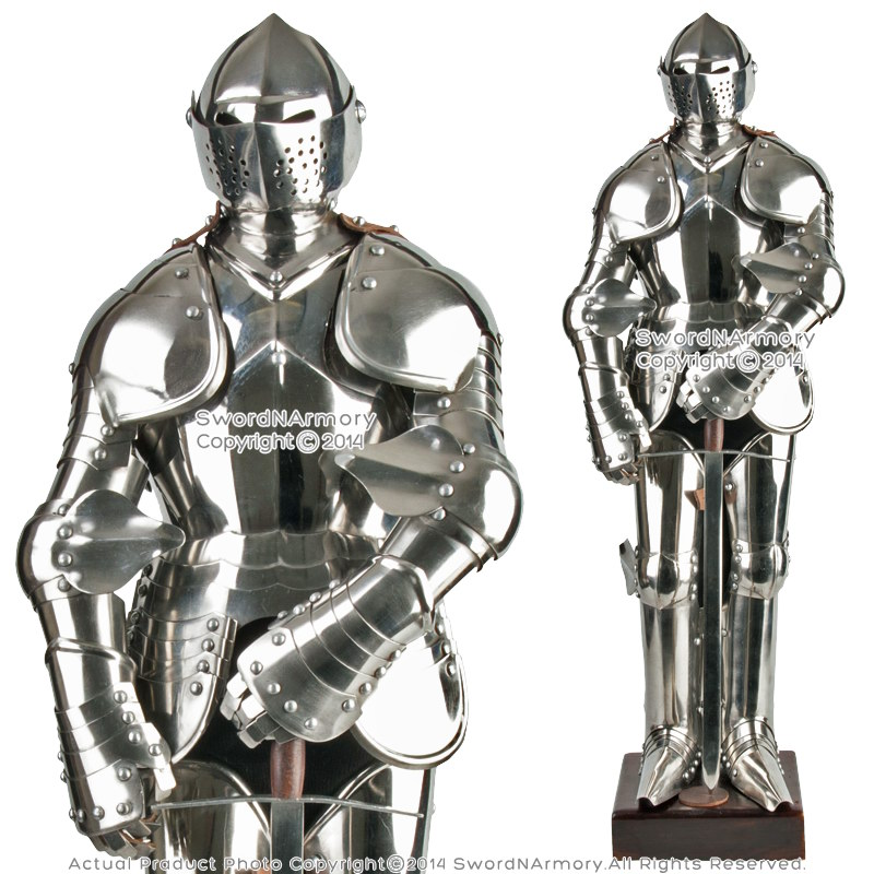 stainless steel mini duke of burgundy suit of armor medieval knight