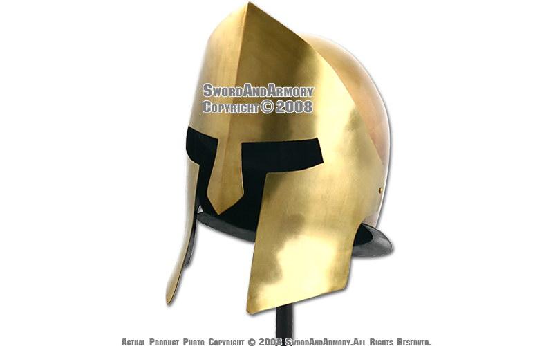 Greek 300 Spartan Warrior Copper Helmet Trojan Armor LARP ...