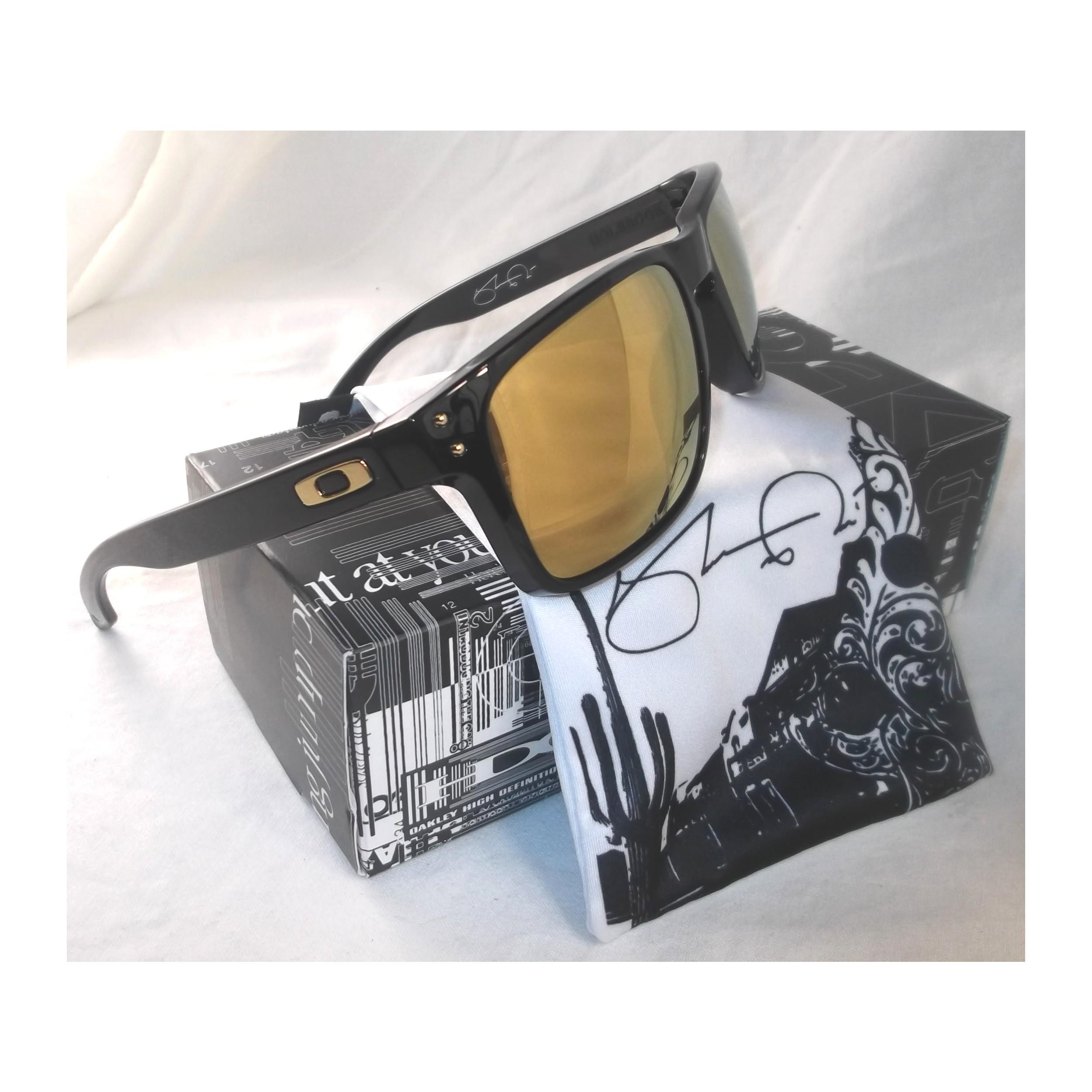 e13cc3021e Oakley Sunglasses Holbrook Mens Polished Black 24K Gold Shaun White ...