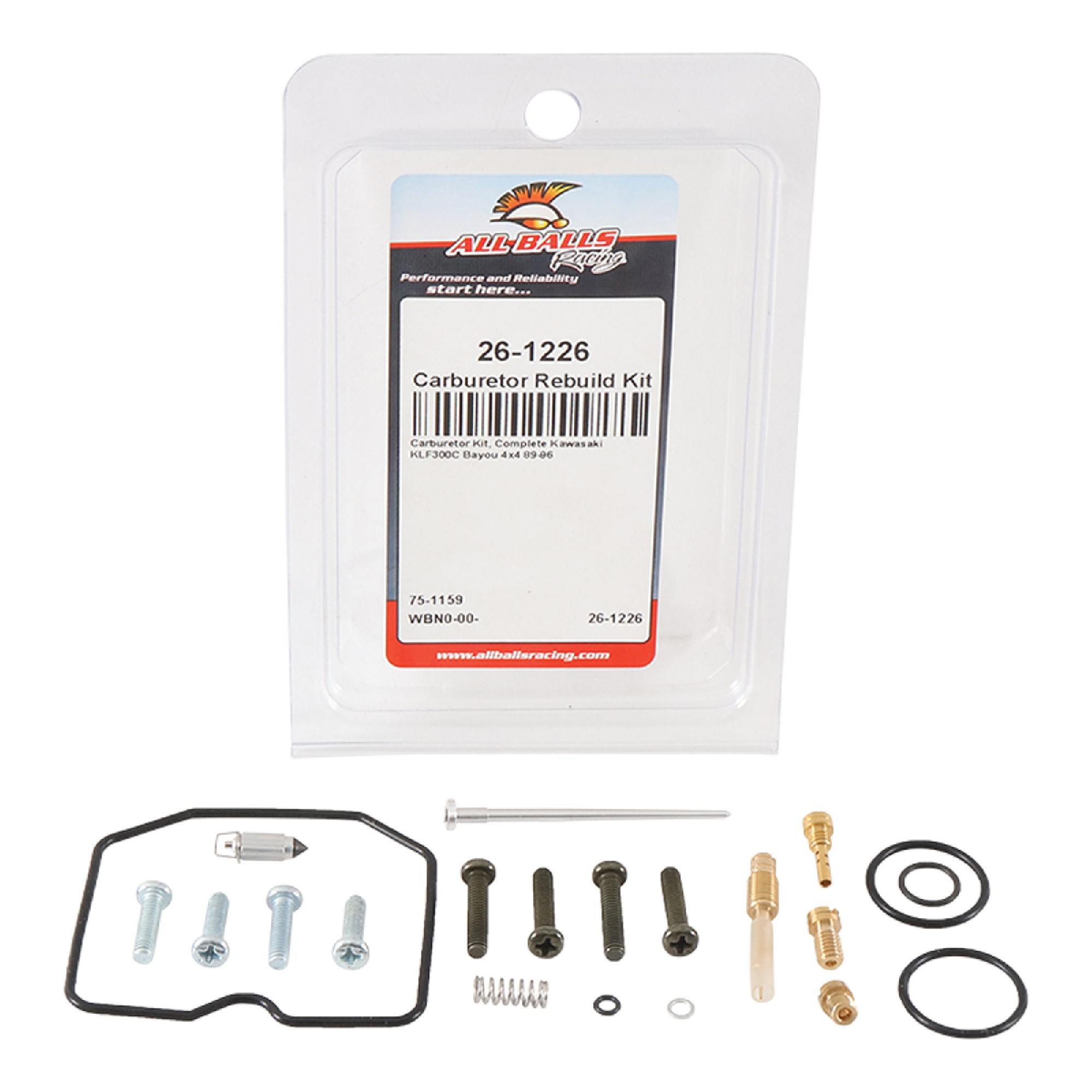 New All Balls Carburetor Rebuild Kit 26