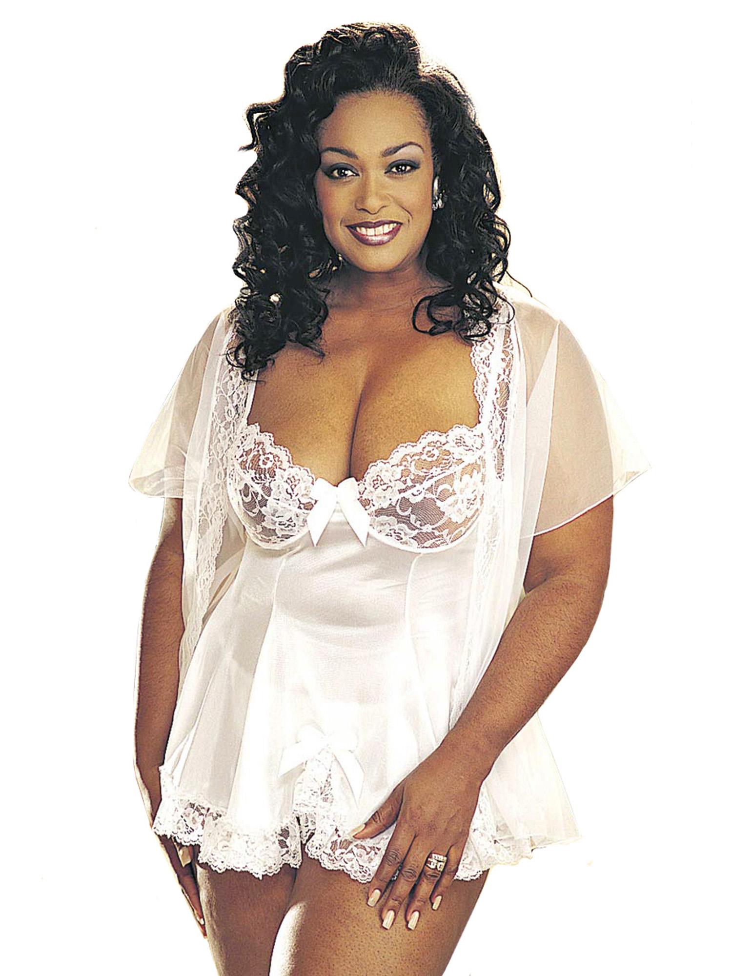 Tricot Lace Babydoll Evening Dress Skirt Plus Size Lingerie Adult ...