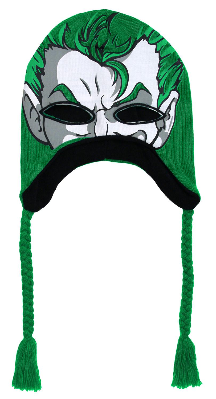 87d904acfc1 The Joker DC Comics Batman Adult Mask Peruvian Laplander Beanie ...