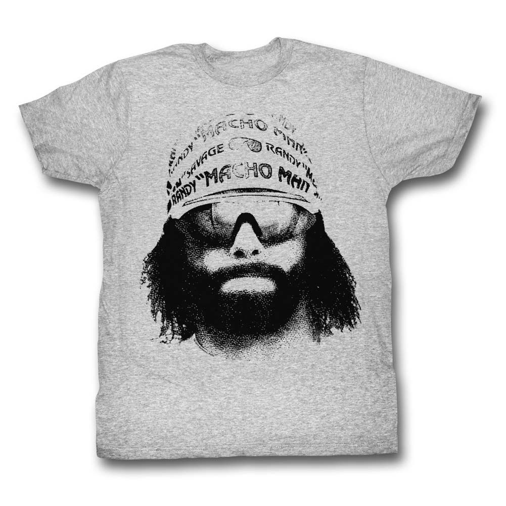 Macho Man Randy Savage Full Color Hat /& Glasses Adult T Shirt WWE Wrestling