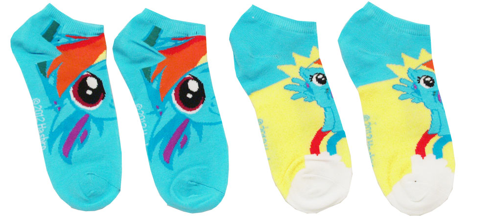 My Little Pony Rainbow Dash 2 Pair Ankle Socks Pack