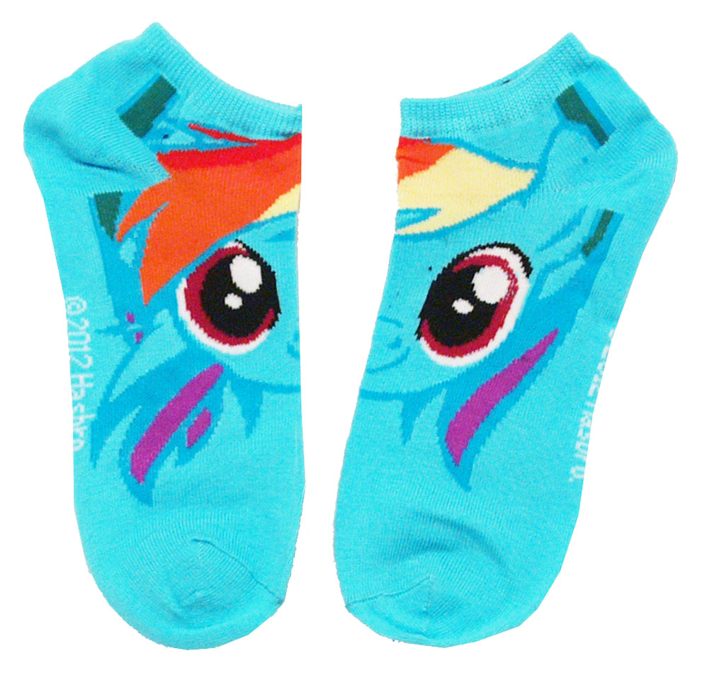 My Little Pony Rainbow Dash 2 Pair Ankle Socks Pack 2