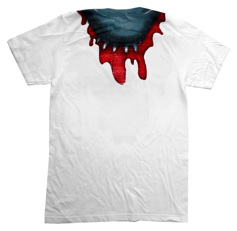 Jaws-Shark-Bite-Movie-Adult-T-Shirt-Tee thumbnail 2
