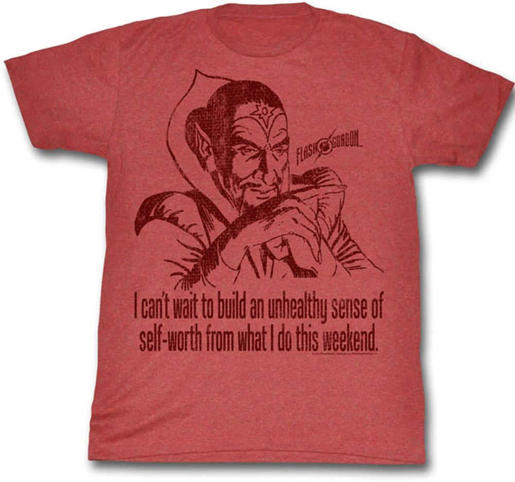 6217b94ef12f4 Flash Gordon Ming The Merciless Self Worth Movie Adult T-Shirt Tee ...