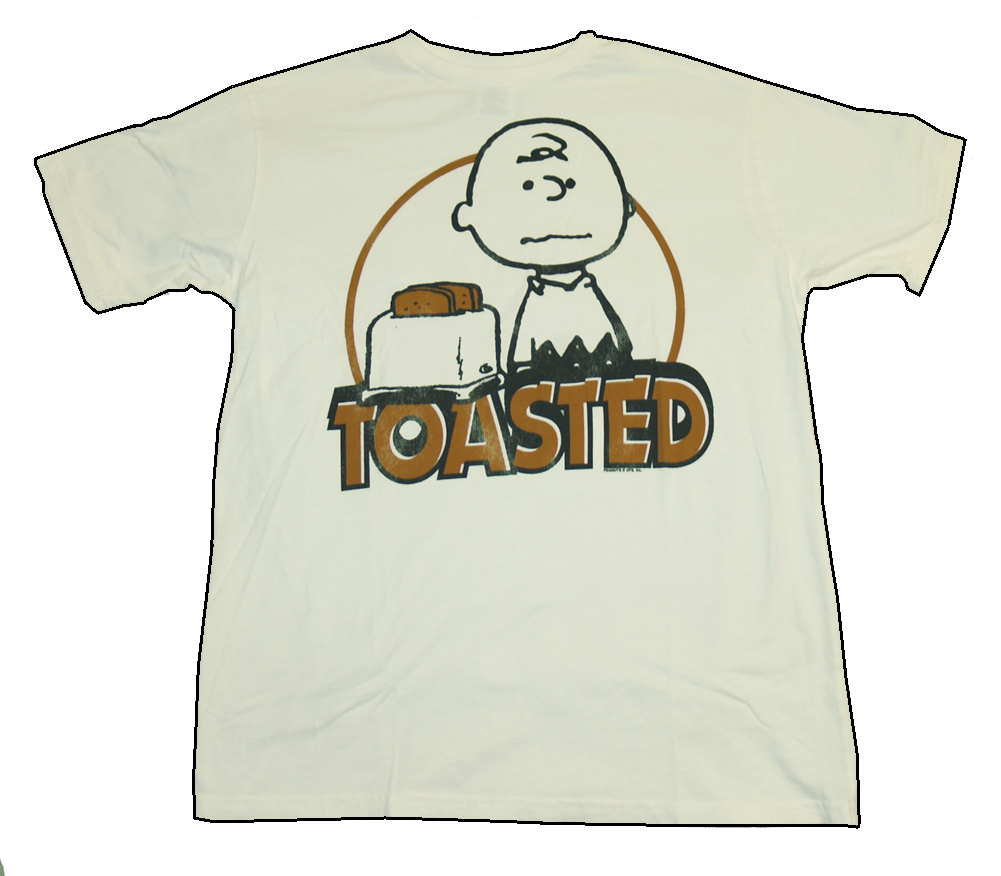 Image is loading Peanuts-Charlie-Brown-Toasted-Vintage-Style-Junk-Food-