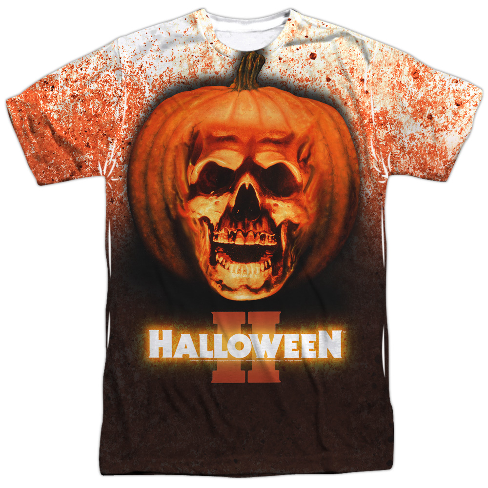 aedd4e21 Details about Halloween II 1981 Horror Thriller Slasher Movie Poster Adult  Front Print T-Shirt