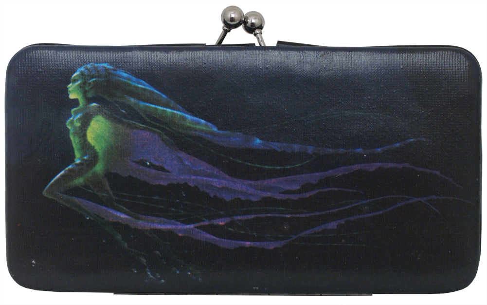 Details about Aurora Fairy Kiss Maleficent Disney Movie Printed Hinge Wallet