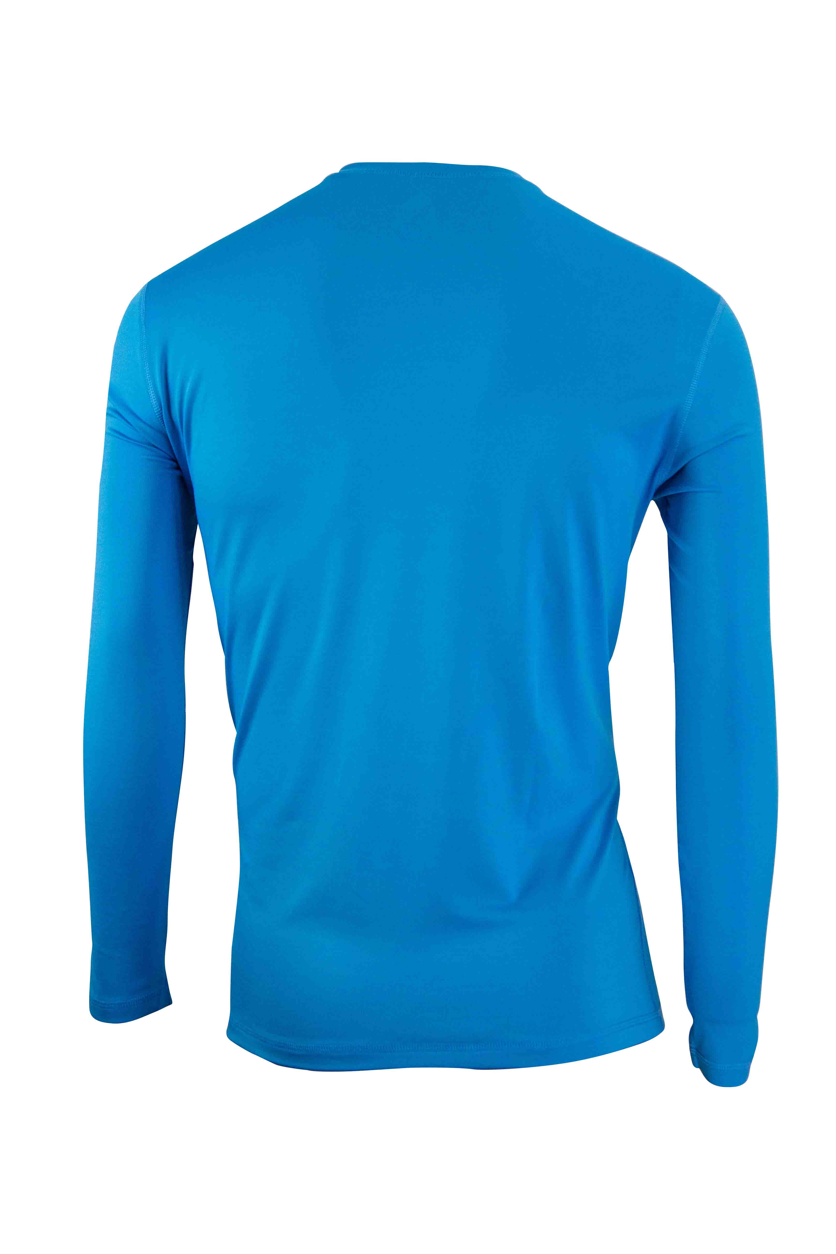 Quiksilver Mens Solid Streak Long Sleeve Rashguard Ocean Blue Men's Clothing