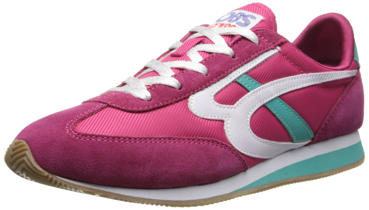 BOBS from Skechers Women's Sunset Fashion Sneaker Retro 80s shoes Memory Foam