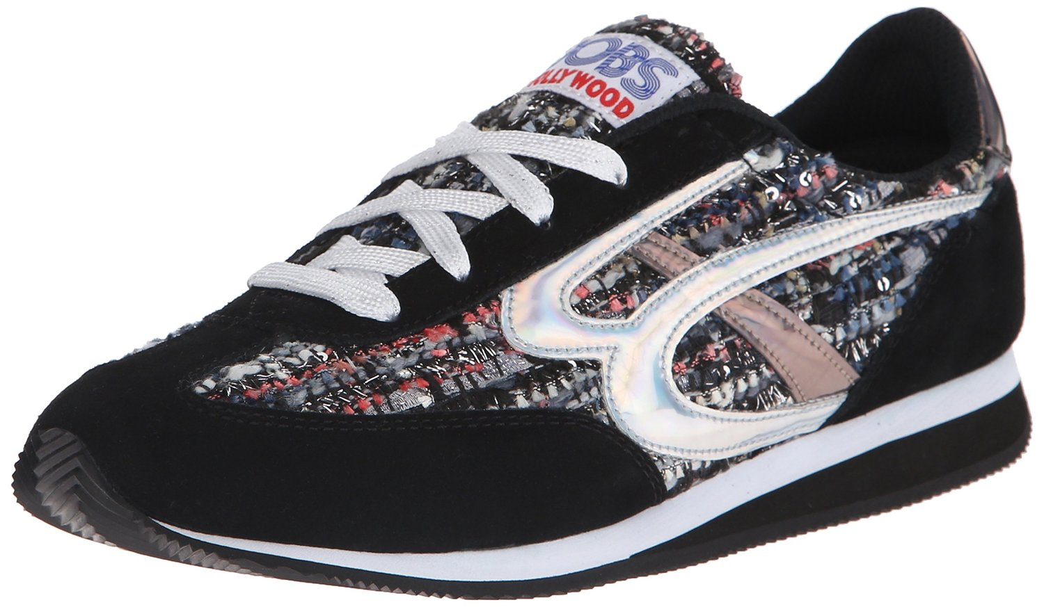 BOBS from Skechers Womens Sunset Fashion Sneaker Retro 80s shoes
