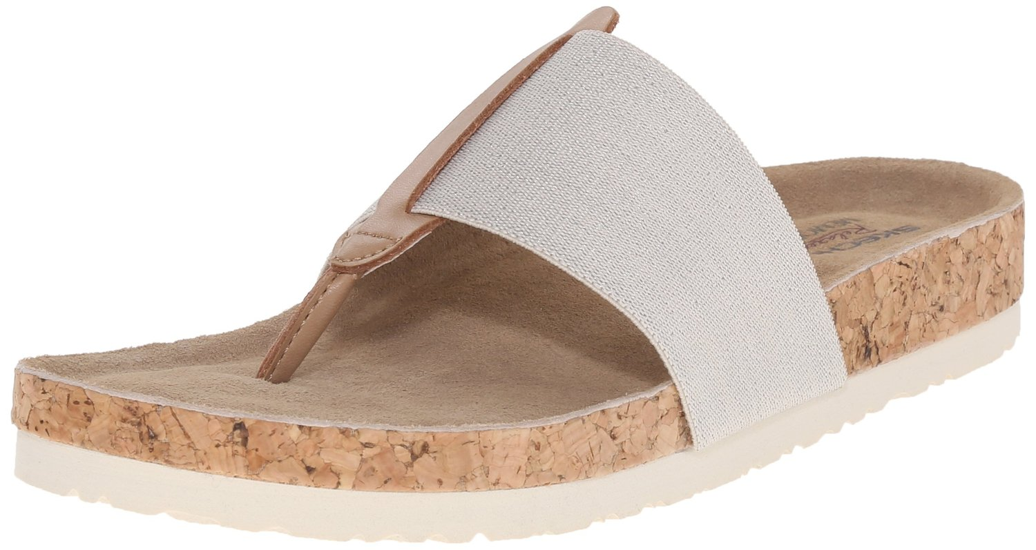 Skechers Cali Womens Granola Shimmer Chic Flip Flop Natural 9 M US. About  this product. Picture 1 of 8; Picture 2 of 8 ...