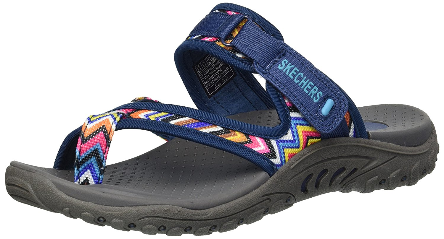 Skechers Reggae Rasta Women's Sandal Wedge Thong Choose Size and Color;  Picture 2 of 8 ...