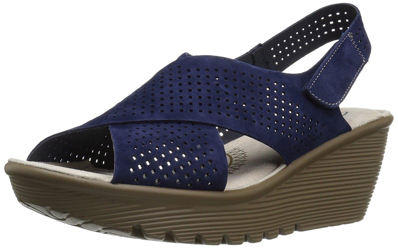 Wedge Infrastructure Choose Navy Color 5 7 Skechers Us Sz Women's Parallel Sandal M tBCQrshdx