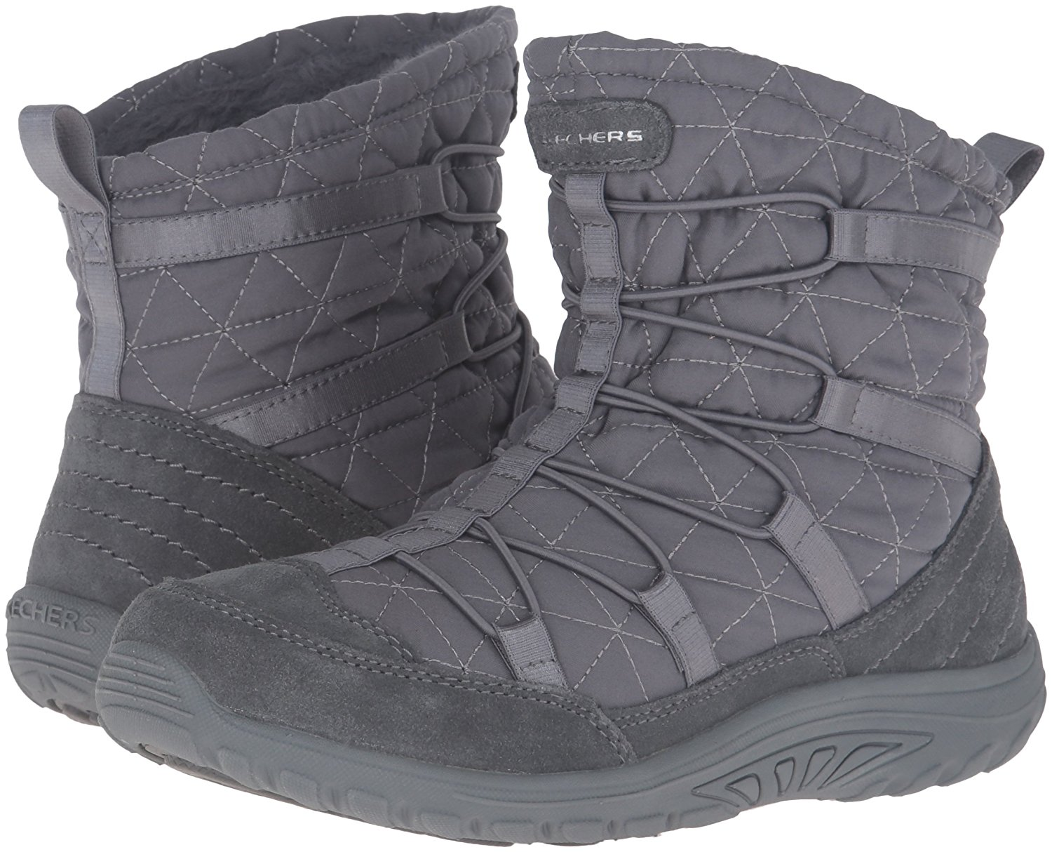 17040bc98f03d Skechers Women's Reggae Fest Steady Quilted Bungee Ankle Bootie | eBay