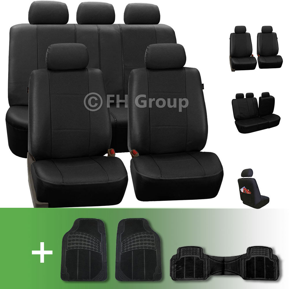 Deluxe Leatherette Seat Covers With Floor Mats